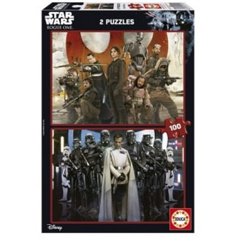 2 Puzzles Star Wars Rogue One mit 100 Teilen -