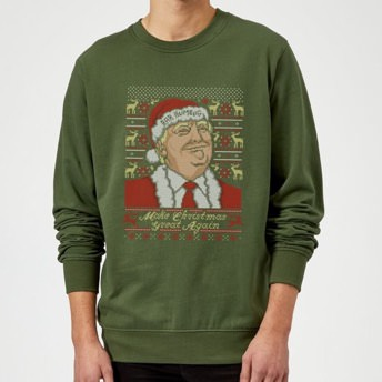 Donald Trump Sweatshirt mit Make Christmas Great Again  - Lustige Donald Trump Gag Geschenke