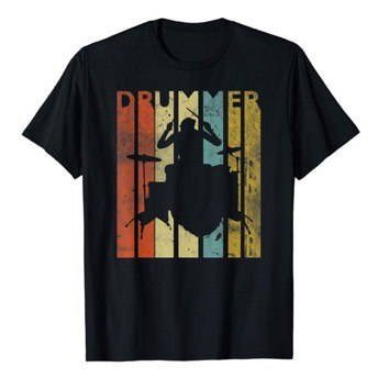 Drummer Shirt in Retro Farben -