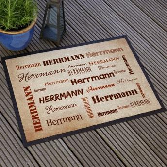 Fußmatte Mit Ihrem Namen In Verschiedenen Schriftarten