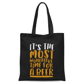 Tote Bag Its The Most Wonderful Time for A Beer - Besondere Geschenke für Biertrinker