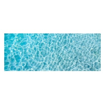 Vinyl Teppich Water Turquoise 70x180 cm -