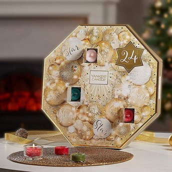 Yankee Candle Adventskalender mit 24 Teelichten in 6 Dften - Originelle Adventskalender für Frauen