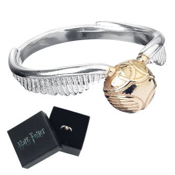 Harry Potter Goldener Schnatz Ring aus 925er Sterling Silber -
