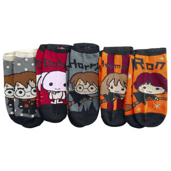 5erSet Harry Potter Sneaker Socken im ChibiDesign -