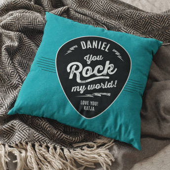 Personalisiertes Kissen You rock my world -