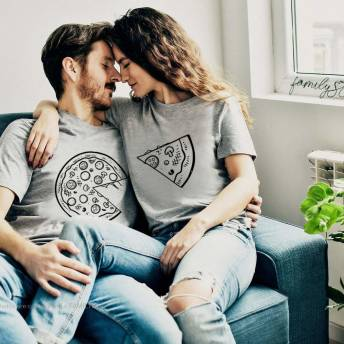 PartnerShirts fr Verliebte Pizza und Pizza Stck -